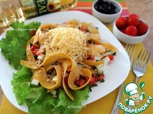 Рецепт Салат из маринованной тыквы с овощами