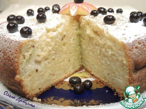 Творожный кекс с яблоками фото