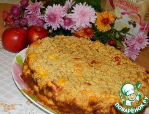 Рецепт Творожно-фруктовый пирог