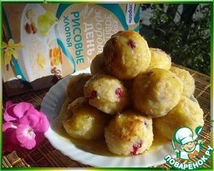 Рецепт Сырники из рисовых хлопьев с клюквой