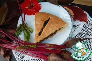 Рецепт Осенний пирог с сыром и свекольной ботвой