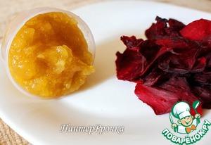 Рецепт Сушеные лепестки роз под яблочно-карамельным соусом