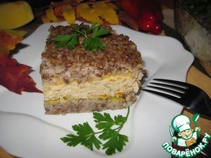 Рецепт Гречневая запеканка с куриным мясом и тыквой
