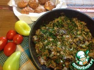 Рецепт Мясо с грибами и сыром