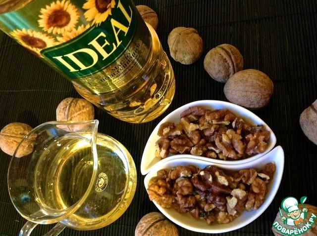 Блюдо из фасоли и грецких орехов