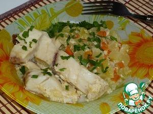 Рецепт Рыба с кабачками по-домашнему (в мультиварке)