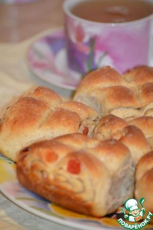 Как приготовить Плюшки злаковые с цукатами простой рецепт с фото