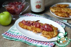 Рецепт Латкес с клюквенно-яблочным соусом