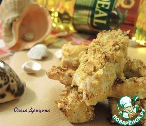 Рецепт Палочки из трески в хрустящей кукурузной панировке