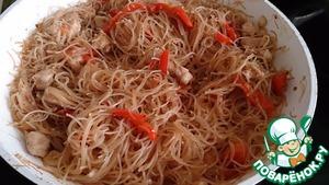 Рецепт Фунчоза с курицей