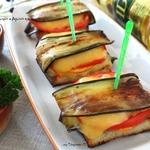 Закусочные бутерброды с баклажаном