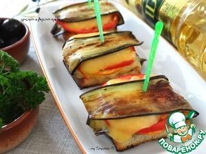 Рецепт Закусочные бутерброды с баклажаном