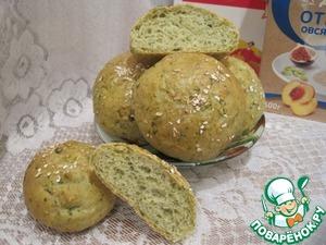 """Рецепт Отрубные булочки с зеленью """"К завтраку"""""""