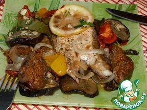 Рецепт Кета запеченная с инжиром и овощами (в аэрогриле)