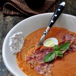 Тыквенный суп-пюре с брусникой