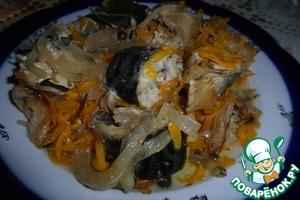 Рецепт Скумбрия, запеченная в горшочке