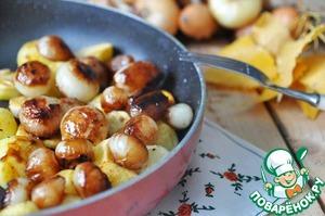 Рецепт Жареный картофель с карамелизированным луком