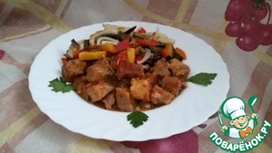 Рецепт Свинина с тыквой и баклажанами