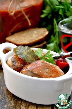 Рецепт Сельдь маринованная в пряном томатном соке
