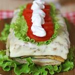 Горячий бутербродный торт
