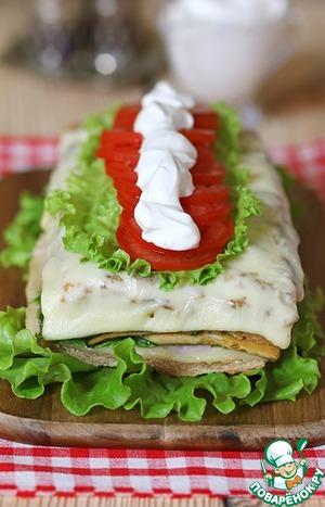 Рецепт Горячий бутербродный торт