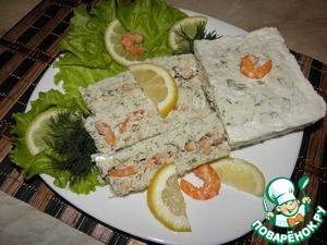 Рецепт Террин рыбный с креветками