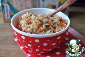 Рецепт Рисовые хлопья с морковью и изюмом