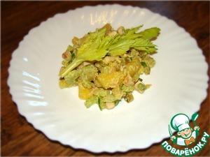 Рецепт Салат из картофеля с копчёной курицей и можжевеловым маслом