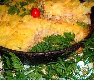 Рецепт Картофельная запеканка с курицей и крекером