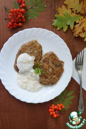 Рецепт Котлеты из овсянки и грибов с белым соусом