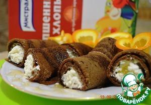 Рецепт Шоколадно-пшенные блинчики