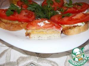 Рецепт Теплый бутерброд с драниками и сыром