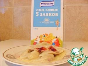 Рецепт Вареники со сливами и хлопьями