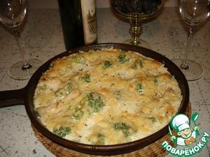 Рецепт Курица с брокколи в сливках