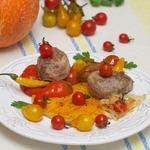 Сезонные овощи-гриль с мясом