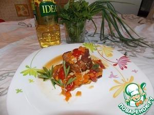 Рецепт Бочонки из свинины с овощами с жаренным картофелем