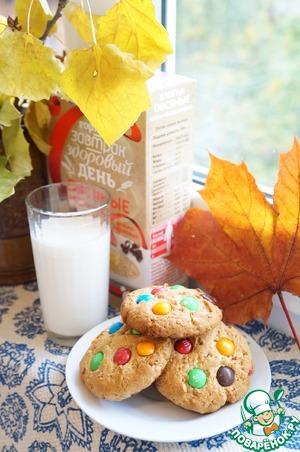 Рецепт Овсяно-гречневое печенье с М&Ms