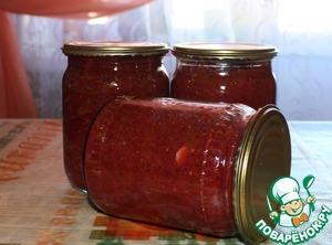 Рецепт Икра из зелёных помидор