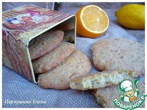 Рецепт Овсяное печенье с маком и апельсиновой цедрой