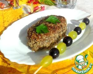 Рецепт Гречнево-грибные котлеты с маринованным виноградом