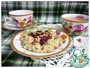 """Рецепт Каша на бульоне с красным луком и кедровыми орехами """"7 злаков"""""""