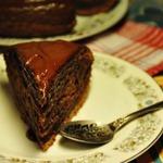 """Очень шоколадный пирог """"Сумасшедший пирог"""""""