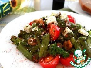 Рецепт Теплый салат из брокколи и стручковой фасоли