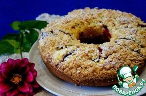 Рецепт Обсыпной сливовый пирог и бонус-творожная запеканка