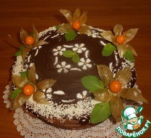 """Рецепт Лимонный торт с кремом """"крем-брюле"""""""