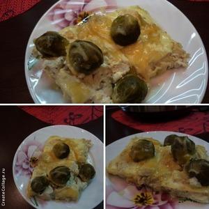 Рецепт Запеканка с брюссельской капустой и куриным филе
