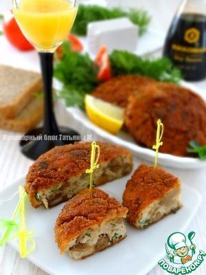 Рецепт Куриные крокеты с опятами