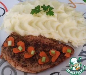 Рецепт Куриный стейк на сковороде и маринад