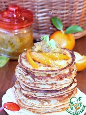 Рецепт Гороховые блины с луковым конфитюром