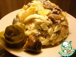 Рецепт Салат «Грибное лукошко»